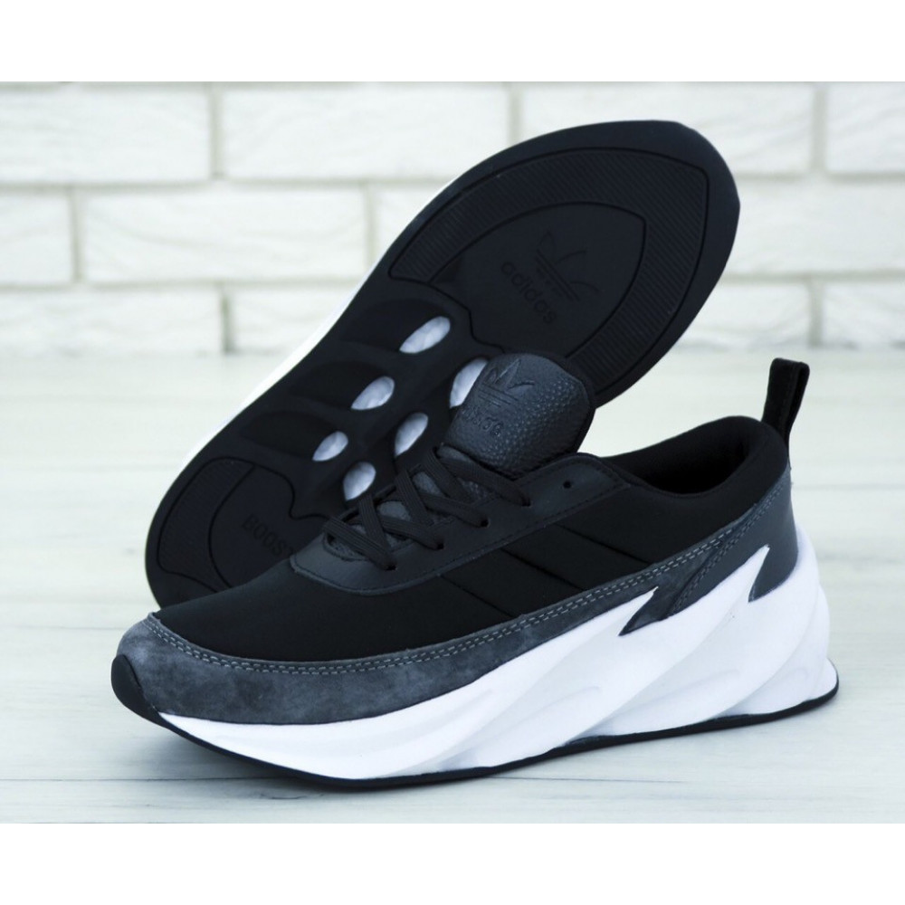 Демисезонные кроссовки мужские   - Кроссовки Adidas Sharks Black Grey 1