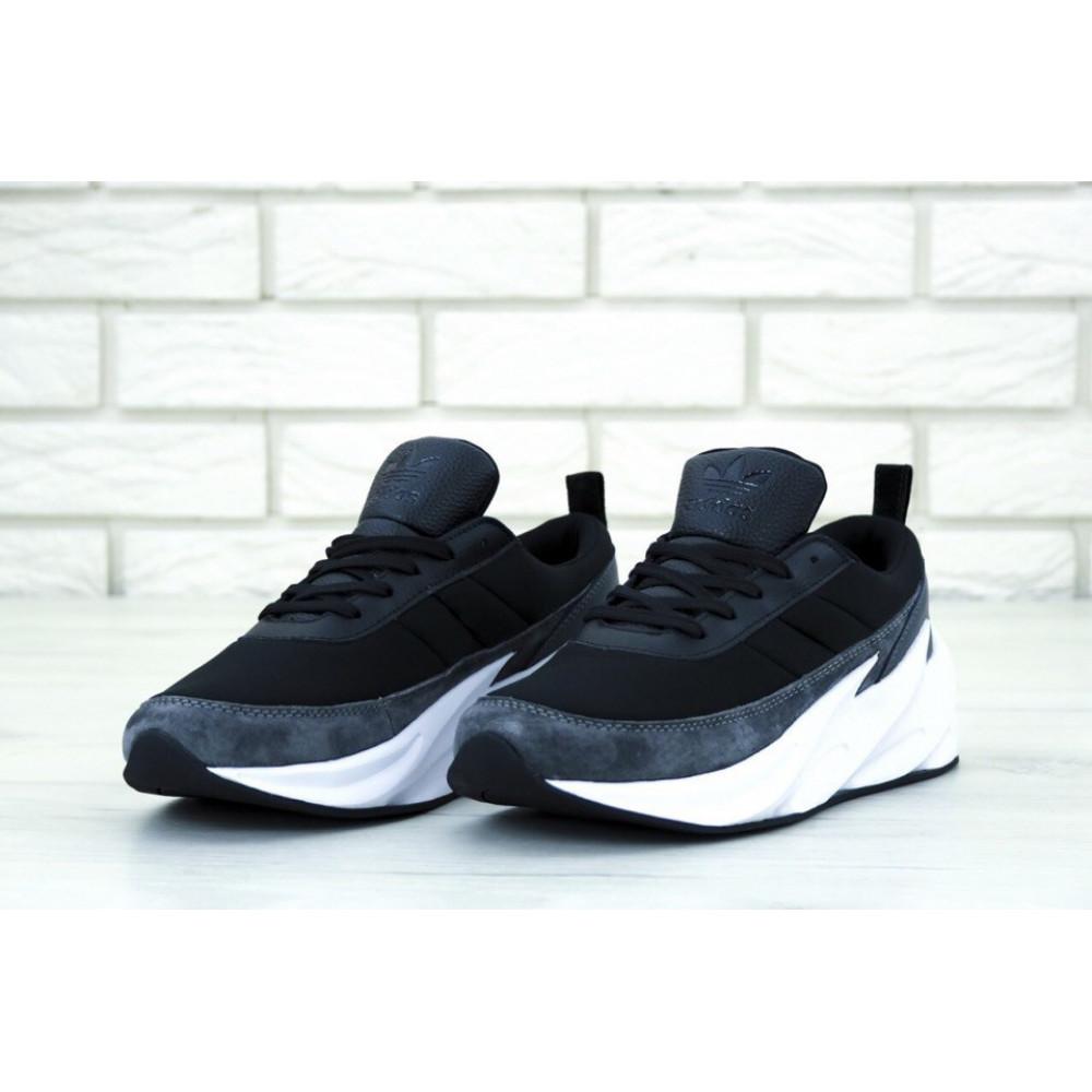 Демисезонные кроссовки мужские   - Кроссовки Adidas Sharks Black Grey 2