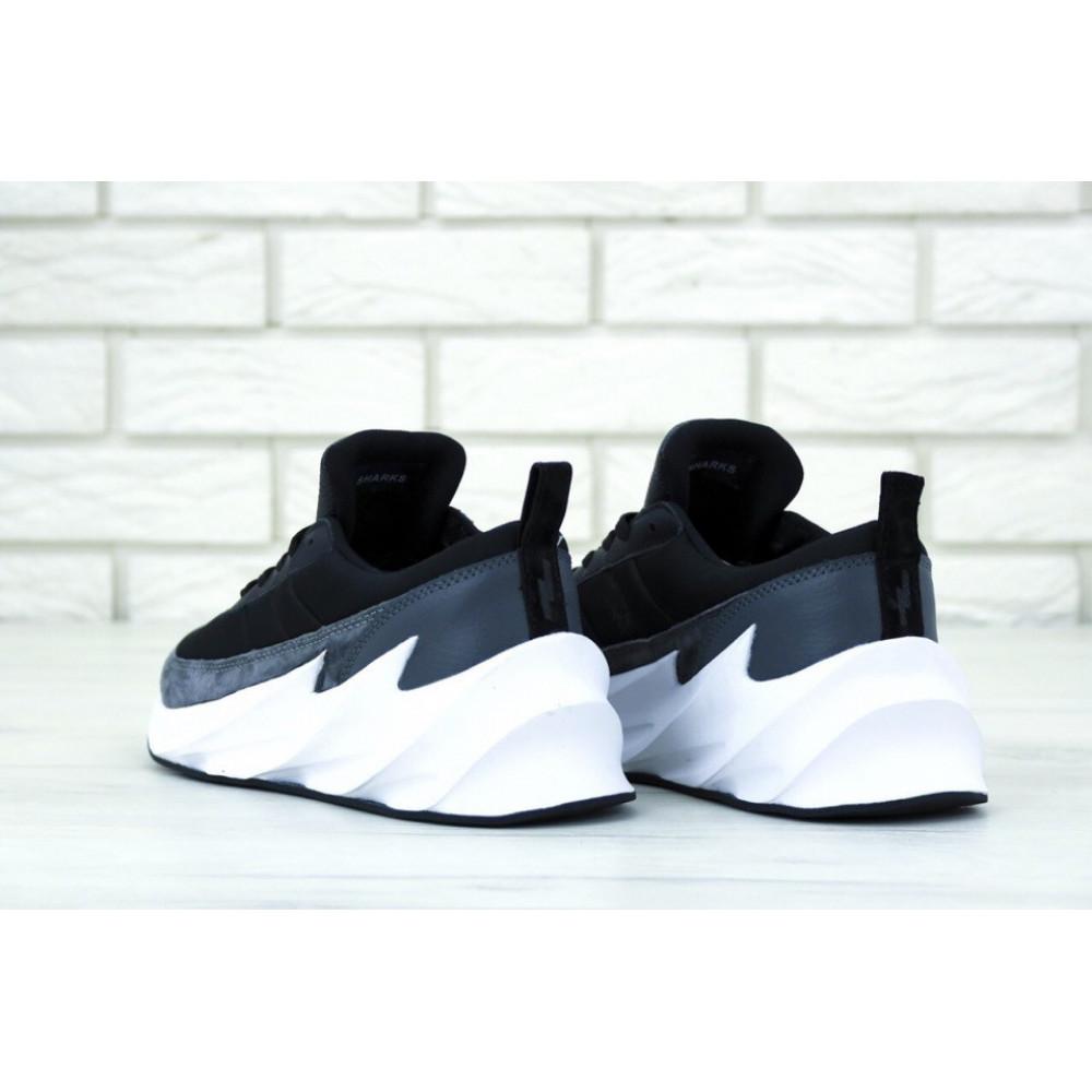 Демисезонные кроссовки мужские   - Кроссовки Adidas Sharks Black Grey 3