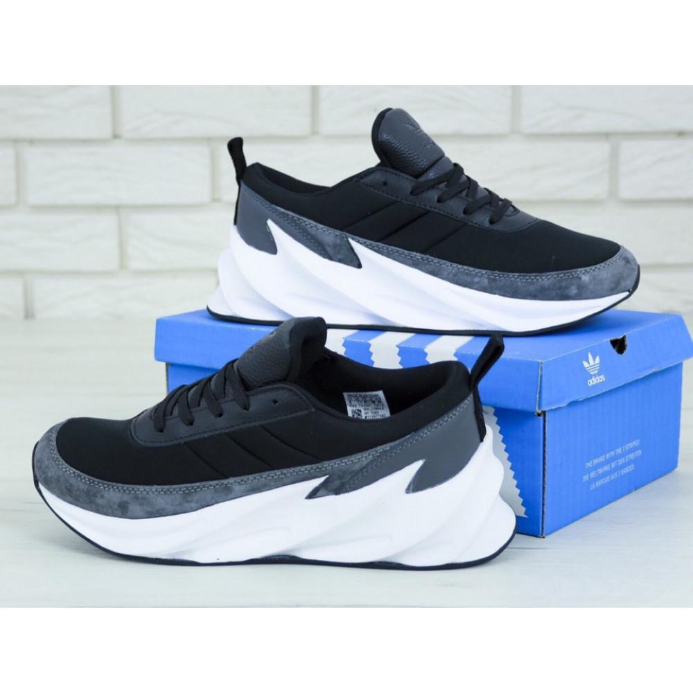 Демисезонные кроссовки мужские   - Кроссовки Adidas Sharks Black Grey 4