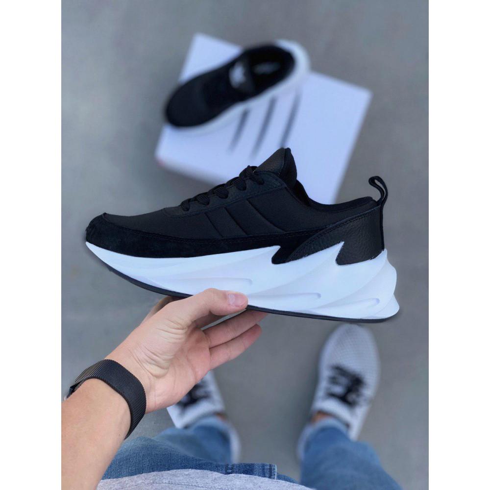 Демисезонные кроссовки мужские   - Кроссовки Adidas Shark Black White