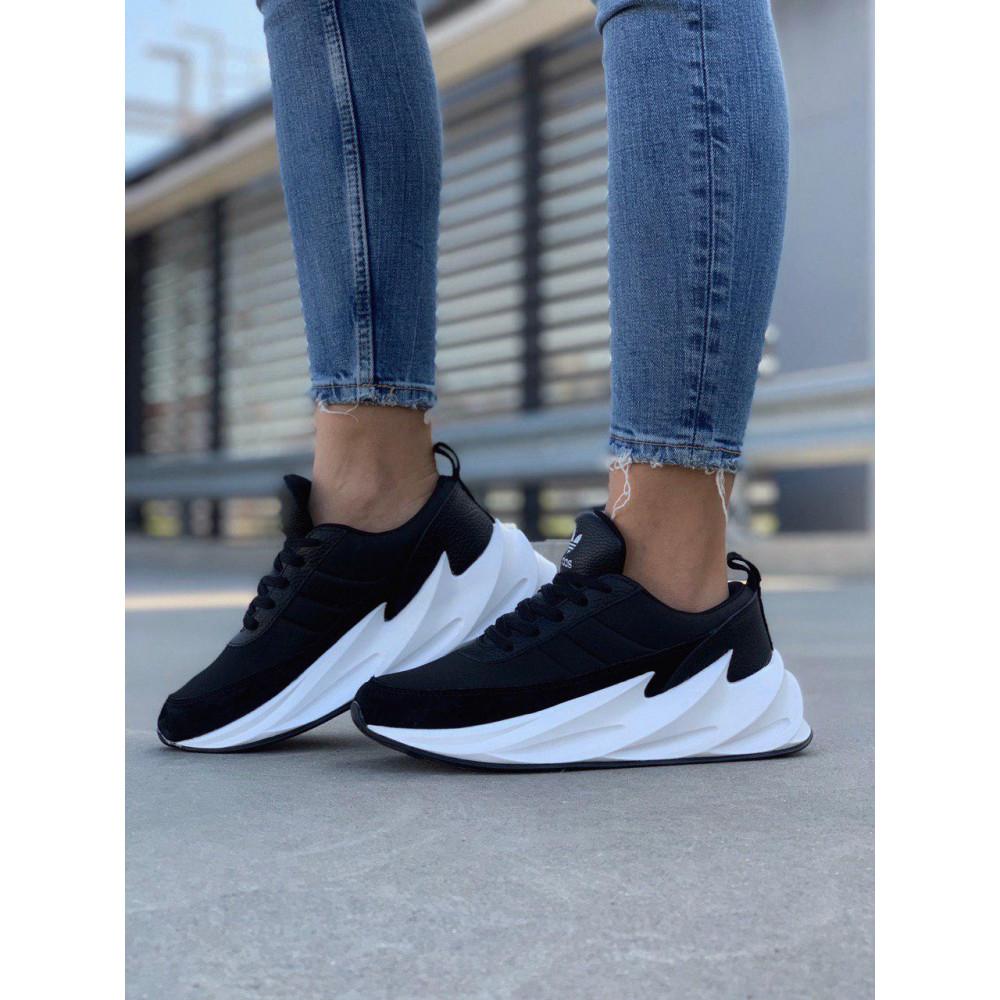 Демисезонные кроссовки мужские   - Кроссовки Adidas Shark Black White 3