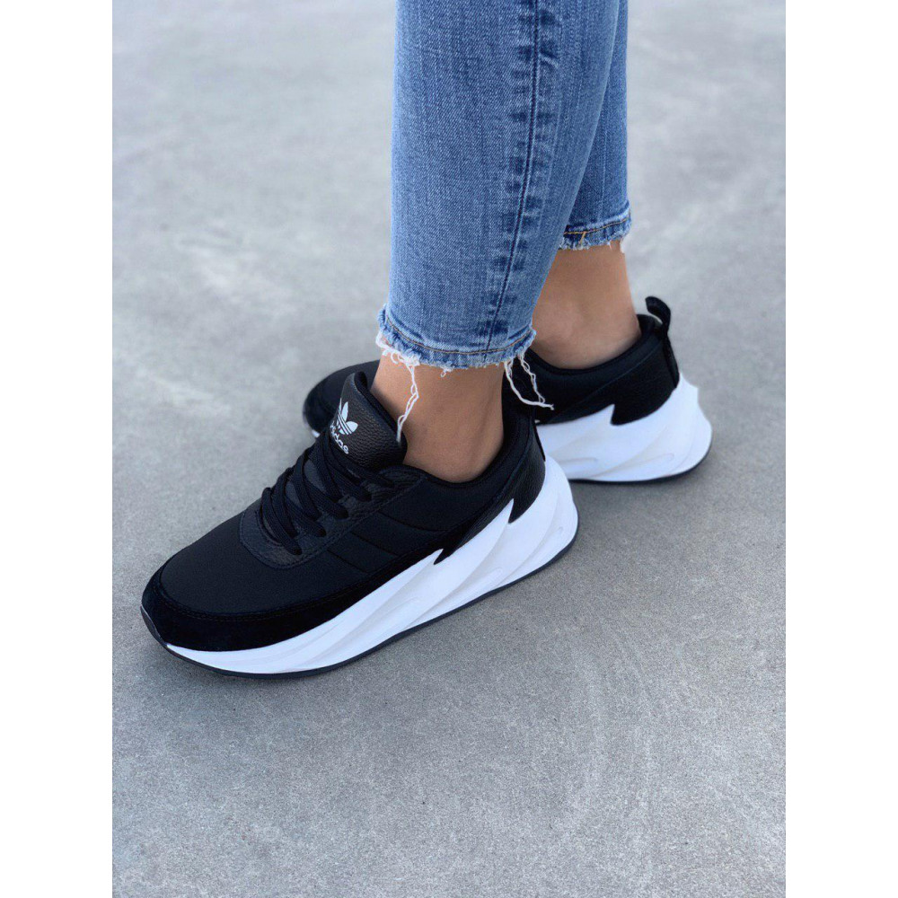 Демисезонные кроссовки мужские   - Кроссовки Adidas Shark Black White 4