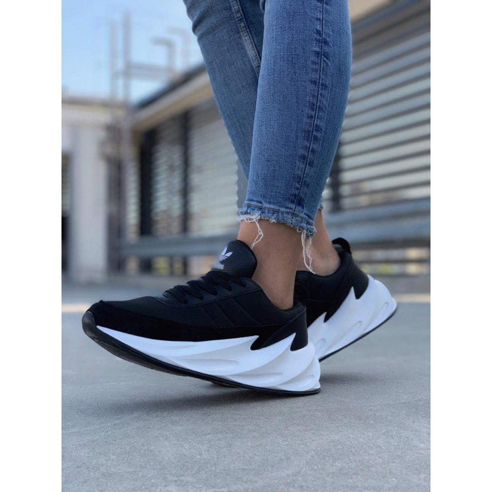 Демисезонные кроссовки мужские   - Кроссовки Adidas Shark Black White 5