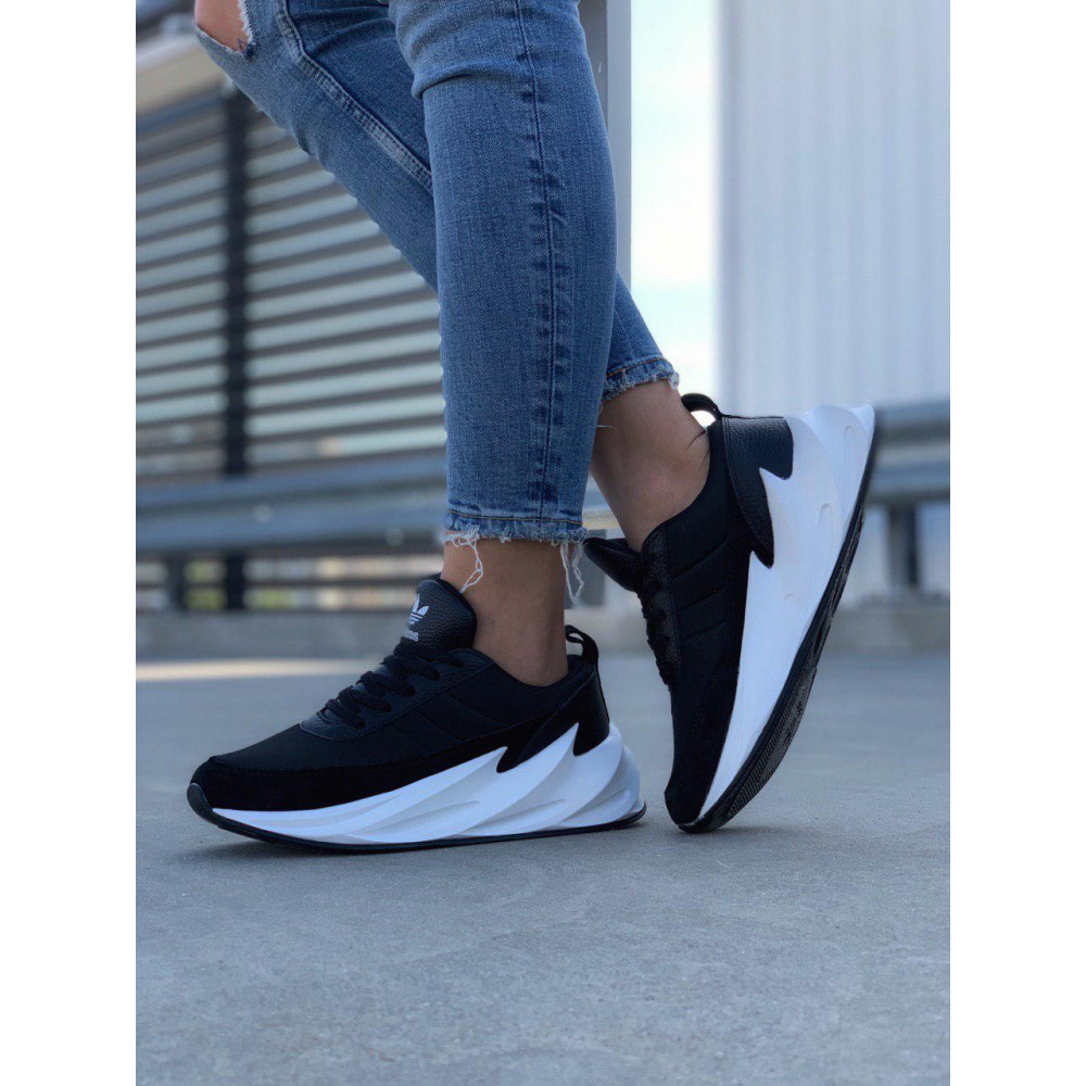 Демисезонные кроссовки мужские   - Кроссовки Adidas Shark Black White 8