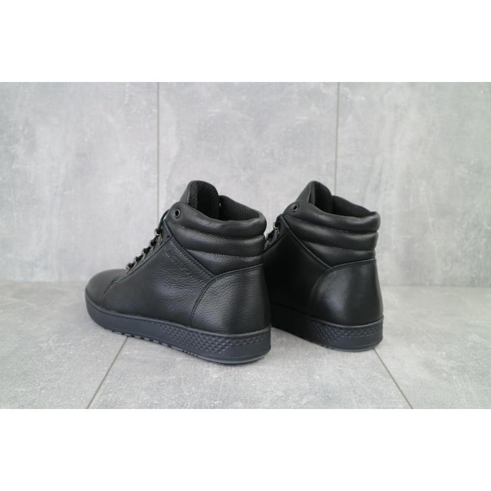 Мужские ботинки зимние - Мужские ботинки кожаные зимние черные StepWey 7260+ 5