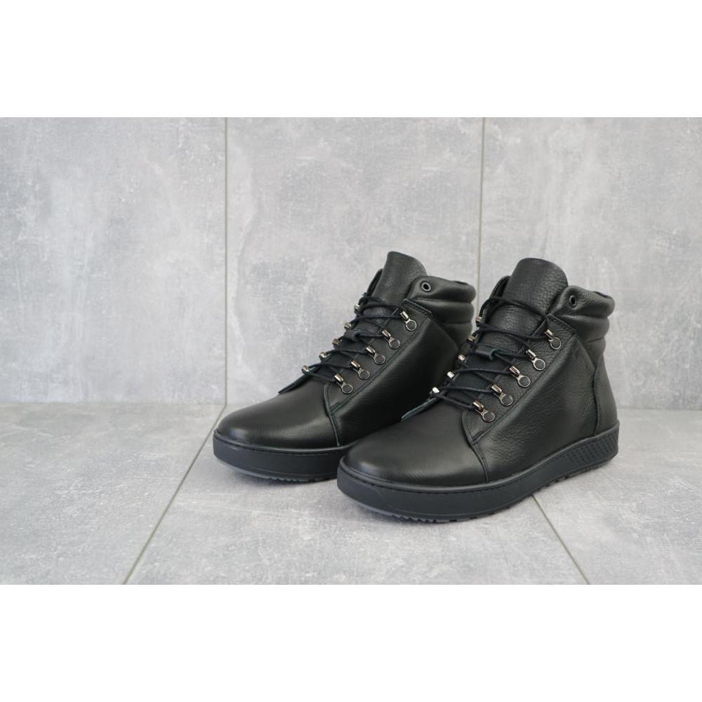 Мужские ботинки зимние - Мужские ботинки кожаные зимние черные StepWey 7260+ 4