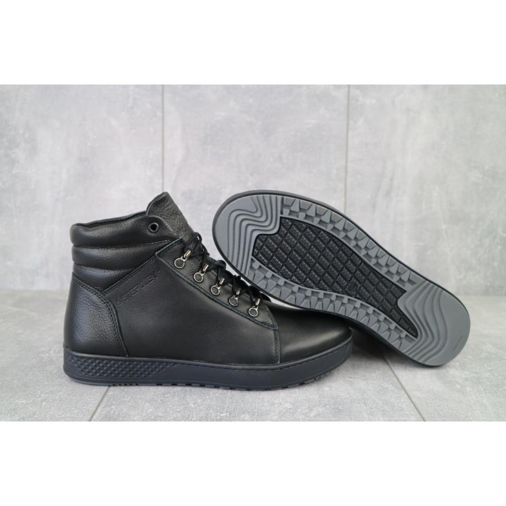 Мужские ботинки зимние - Мужские ботинки кожаные зимние черные StepWey 7260+ 1