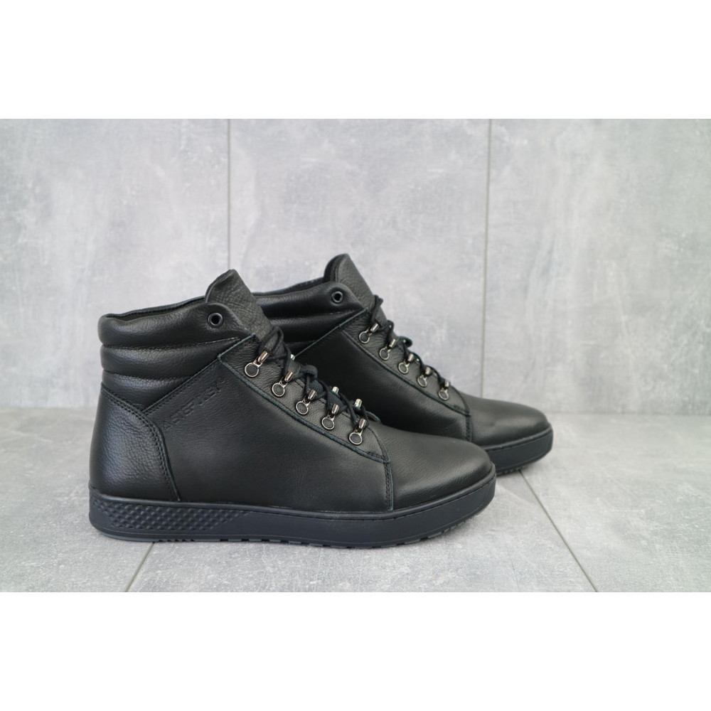 Мужские ботинки зимние - Мужские ботинки кожаные зимние черные StepWey 7260+ 3