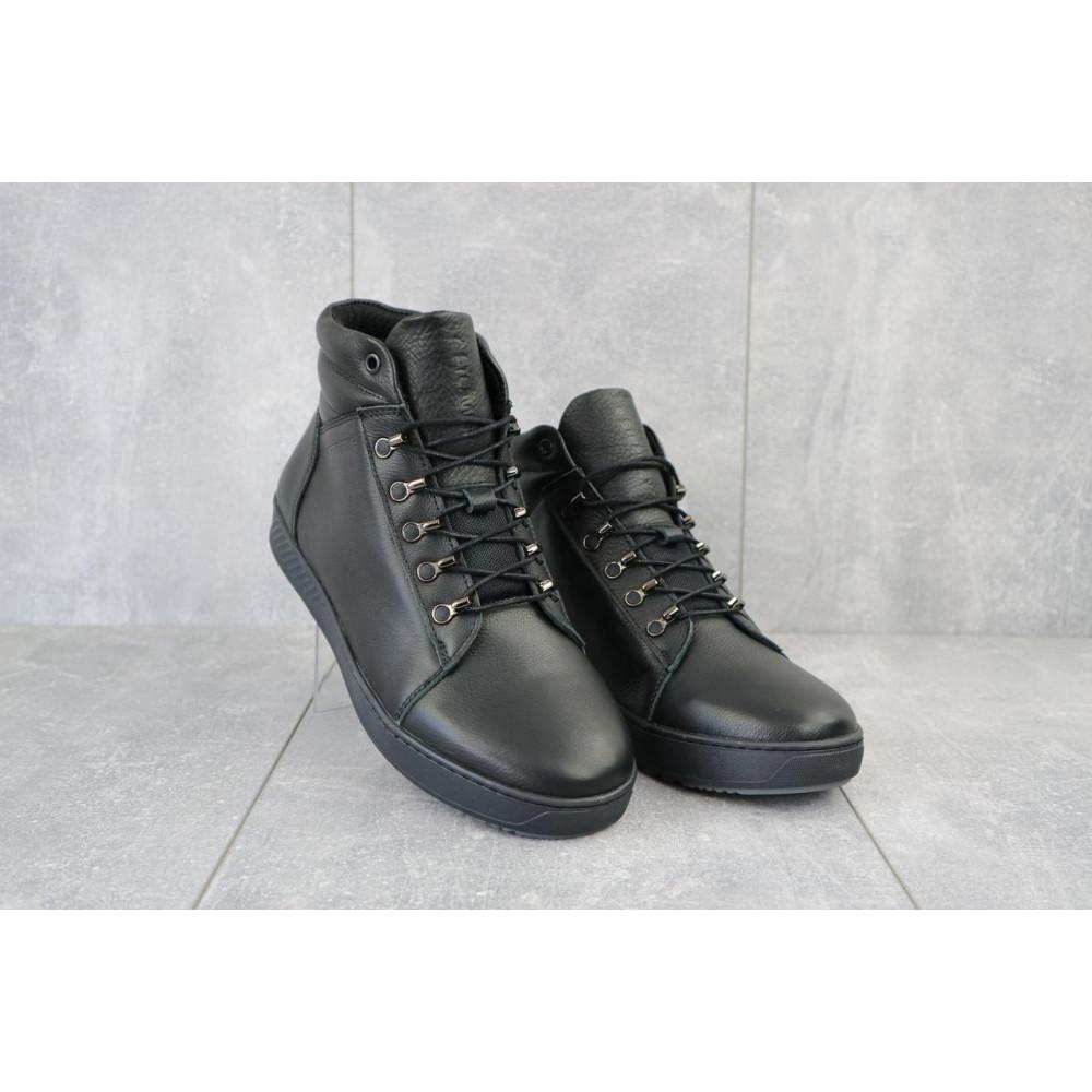 Мужские ботинки зимние - Мужские ботинки кожаные зимние черные StepWey 7260+