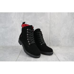 Женские ботинки замшевые зимние черные VanGirls Ким