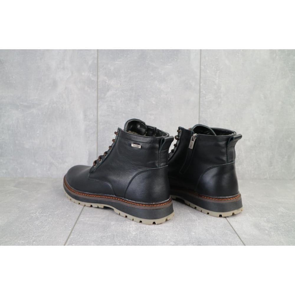 Мужские ботинки зимние - Мужские ботинки кожаные зимние черные Multi-shoes Valter 3