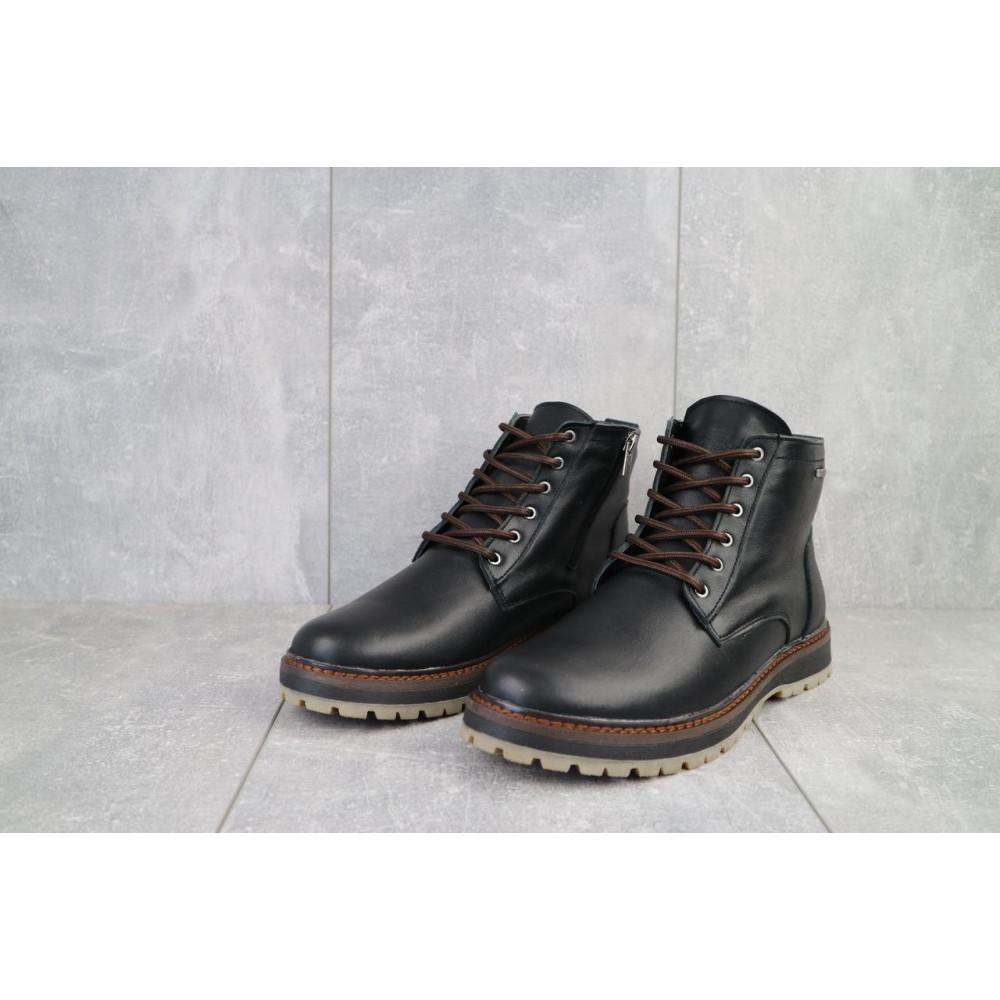 Мужские ботинки зимние - Мужские ботинки кожаные зимние черные Multi-shoes Valter 2