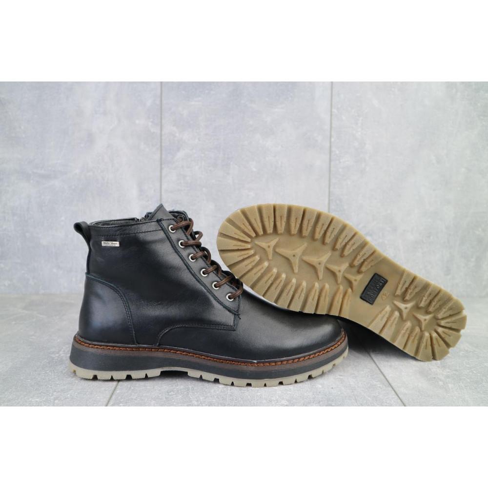Мужские ботинки зимние - Мужские ботинки кожаные зимние черные Multi-shoes Valter 4