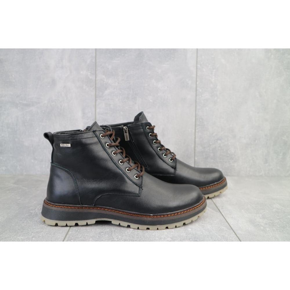 Мужские ботинки зимние - Мужские ботинки кожаные зимние черные Multi-shoes Valter 1