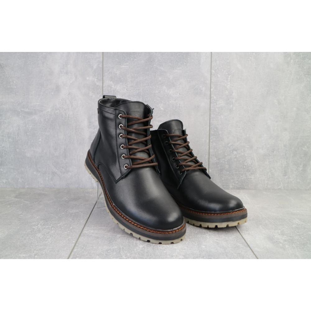 Мужские ботинки зимние - Мужские ботинки кожаные зимние черные Multi-shoes Valter