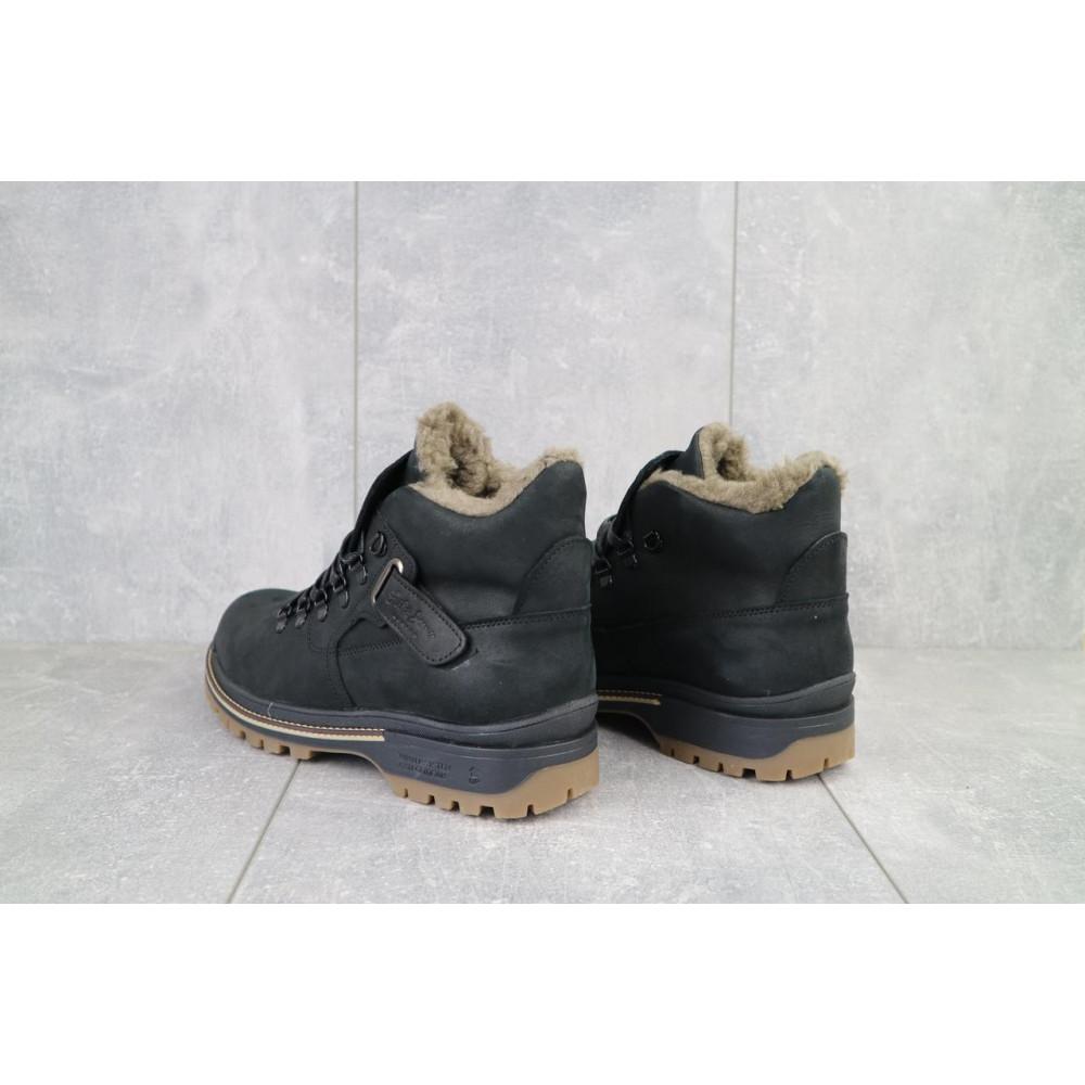 Мужские ботинки зимние - Мужские ботинки кожаные зимние черные Trike 035/M 3