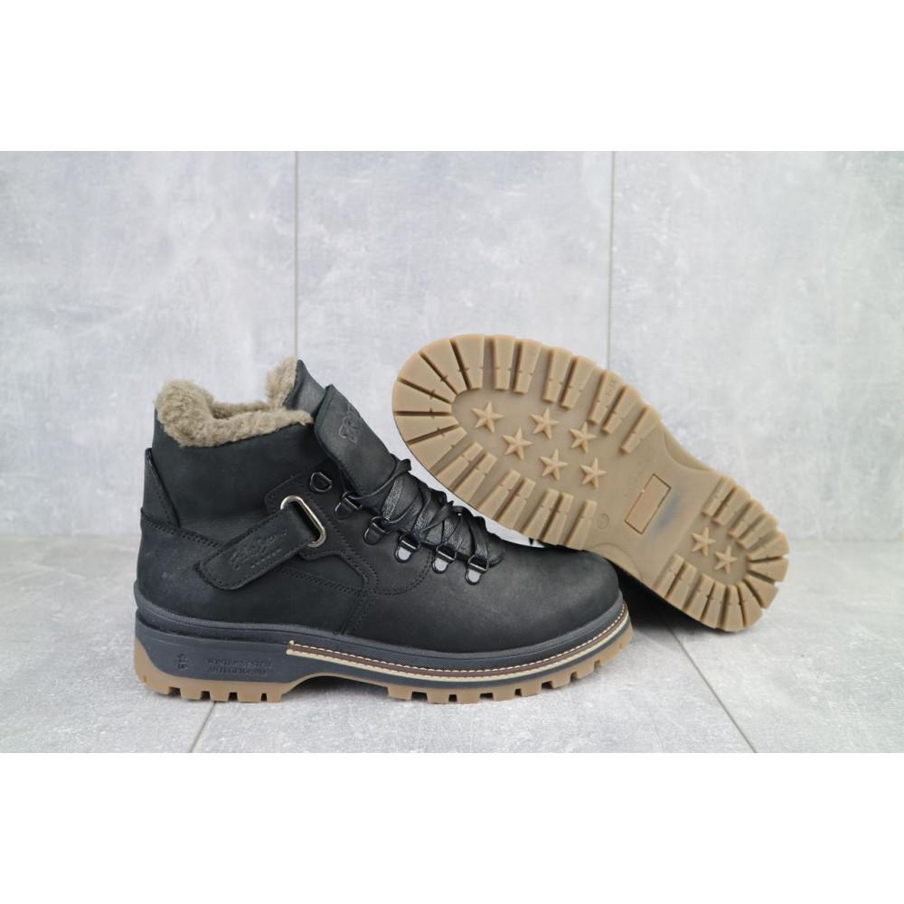 Мужские ботинки зимние - Мужские ботинки кожаные зимние черные Trike 035/M 4