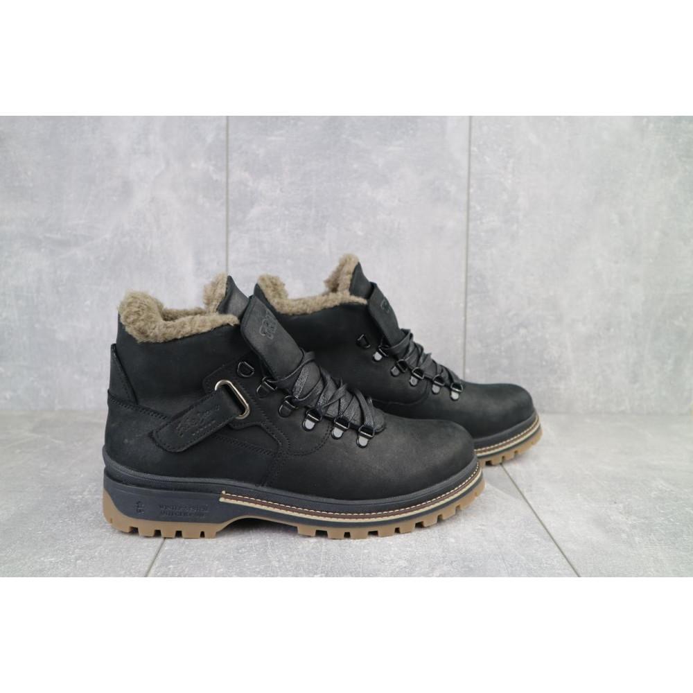 Мужские ботинки зимние - Мужские ботинки кожаные зимние черные Trike 035/M 1