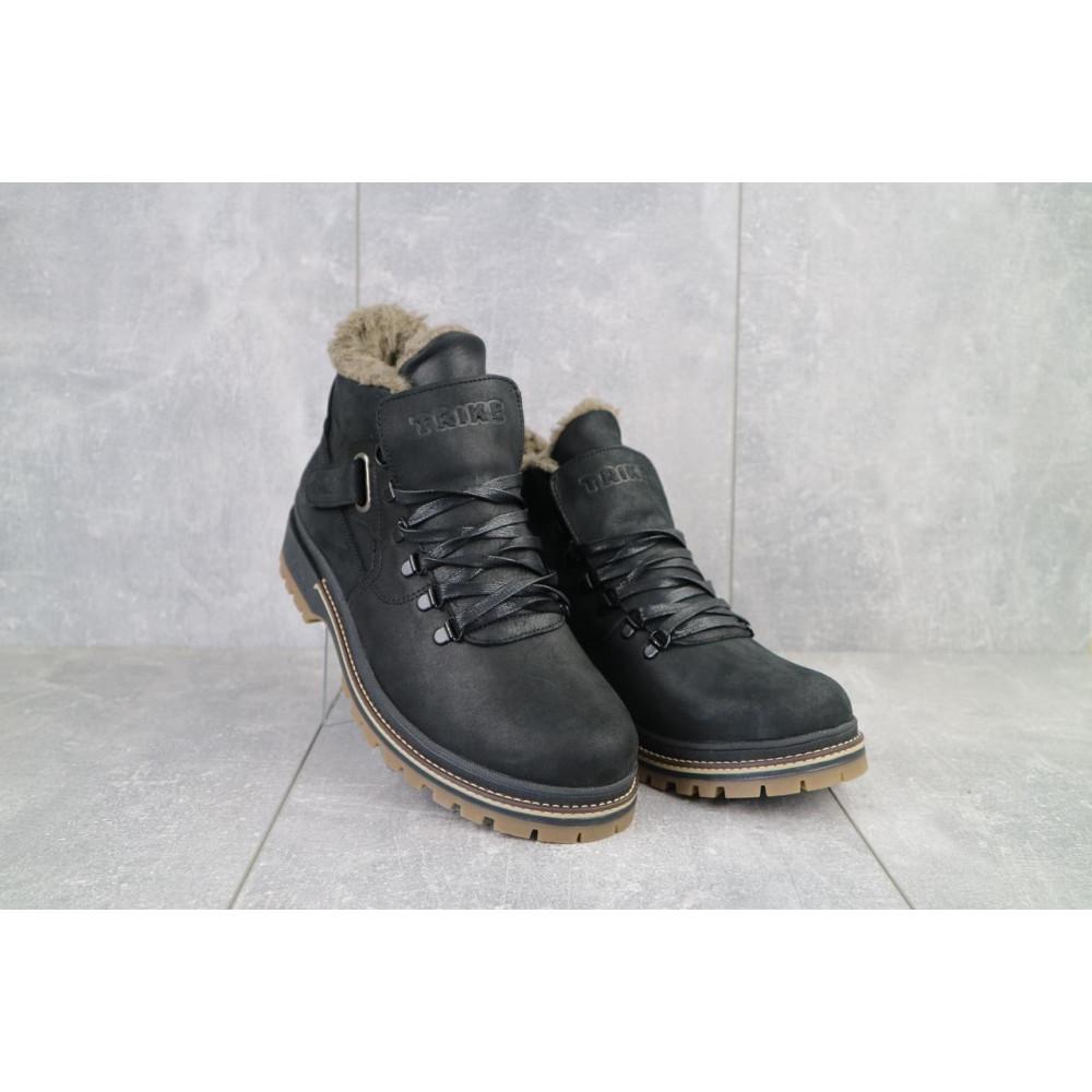 Мужские ботинки зимние - Мужские ботинки кожаные зимние черные Trike 035/M