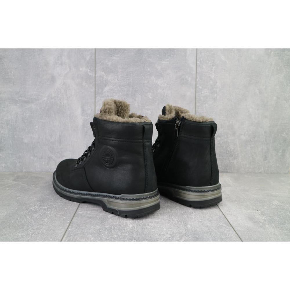Мужские ботинки зимние - Мужские ботинки кожаные зимние черные Trike 099/M 3