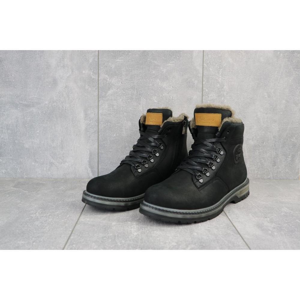 Мужские ботинки зимние - Мужские ботинки кожаные зимние черные Trike 099/M 2