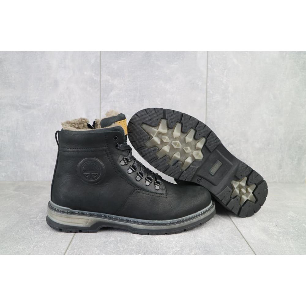 Мужские ботинки зимние - Мужские ботинки кожаные зимние черные Trike 099/M 4