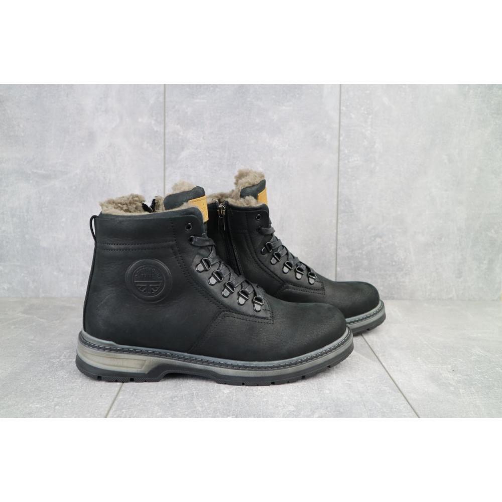 Мужские ботинки зимние - Мужские ботинки кожаные зимние черные Trike 099/M 1