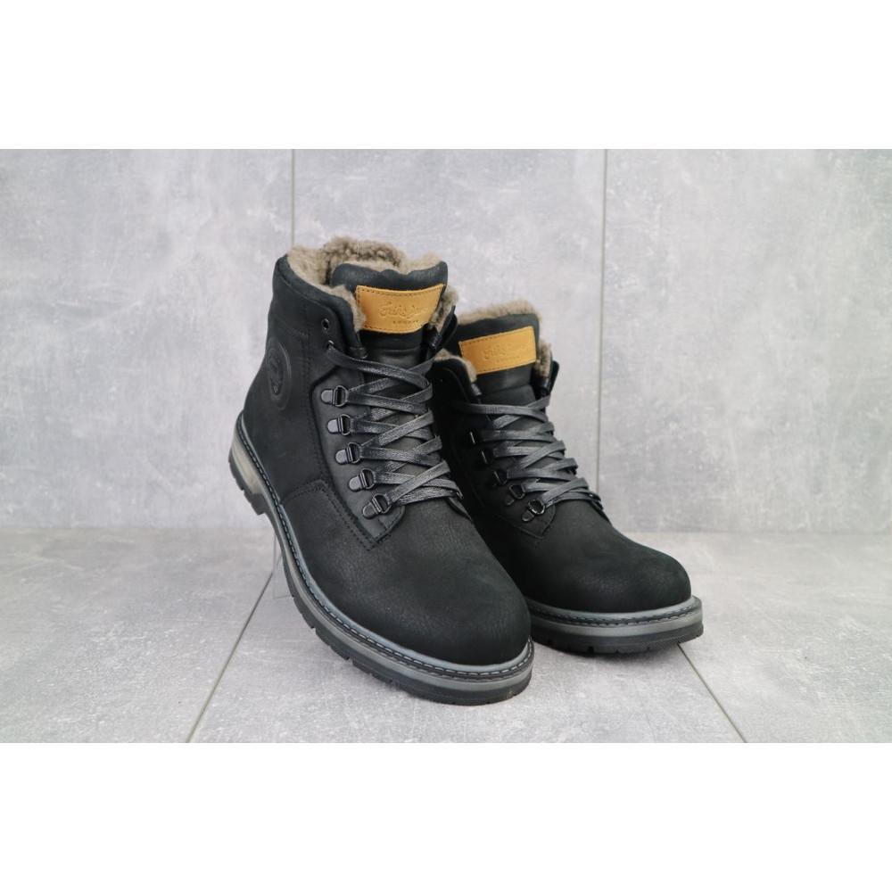 Мужские ботинки зимние - Мужские ботинки кожаные зимние черные Trike 099/M