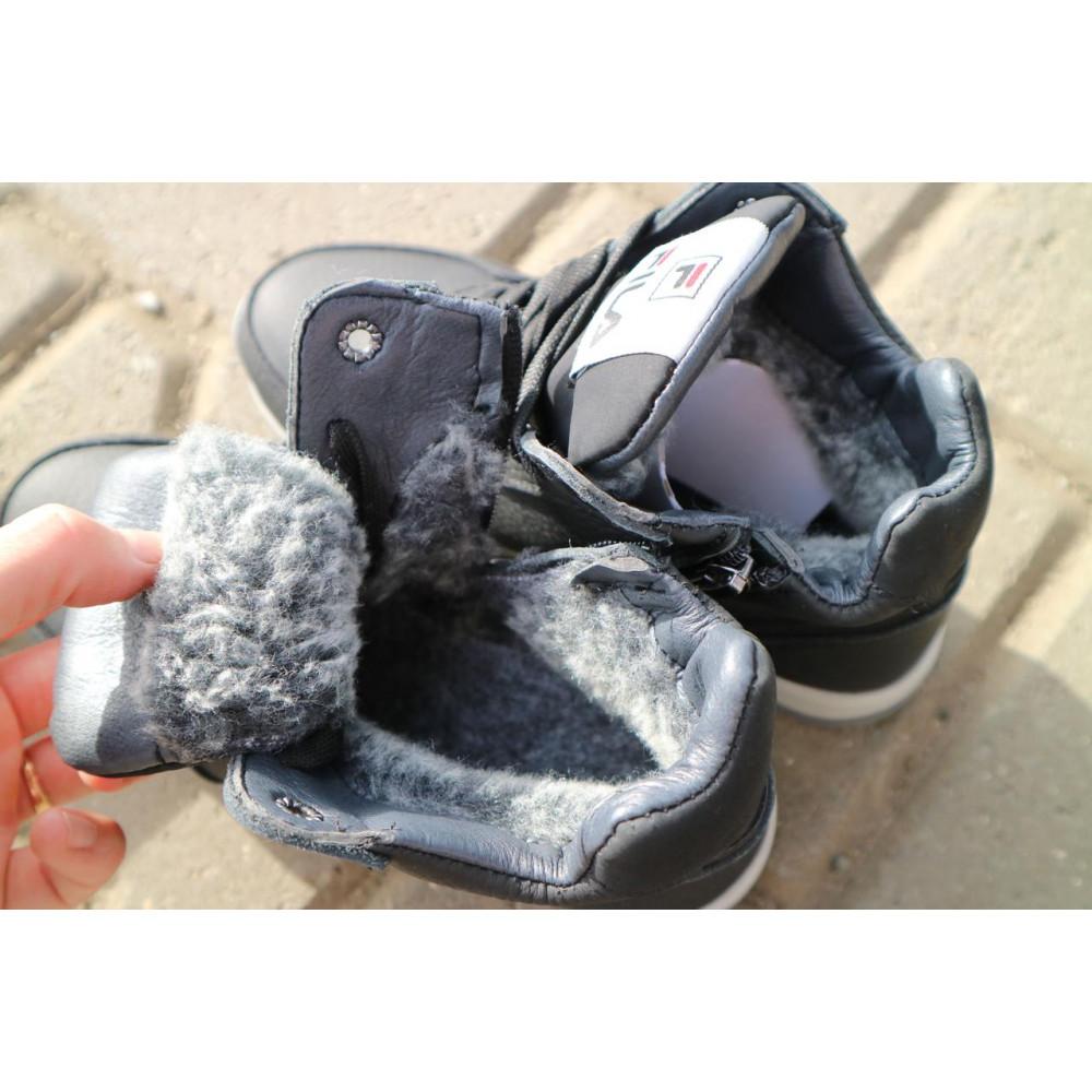 Детские ботинки зимние  - Детские ботинки кожаные зимние черные CrosSav z 48 3
