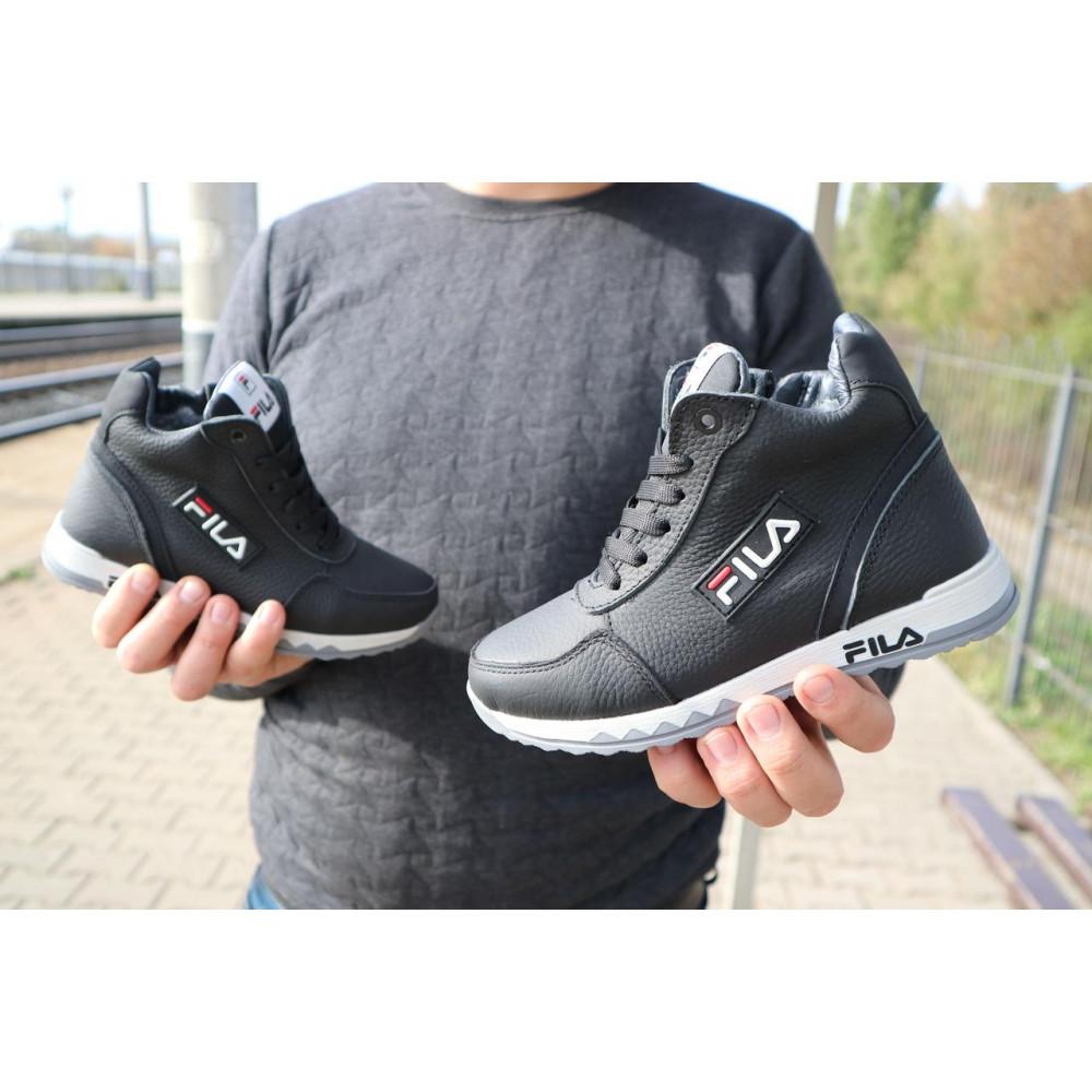 Детские ботинки зимние  - Детские ботинки кожаные зимние черные CrosSav z 48 5