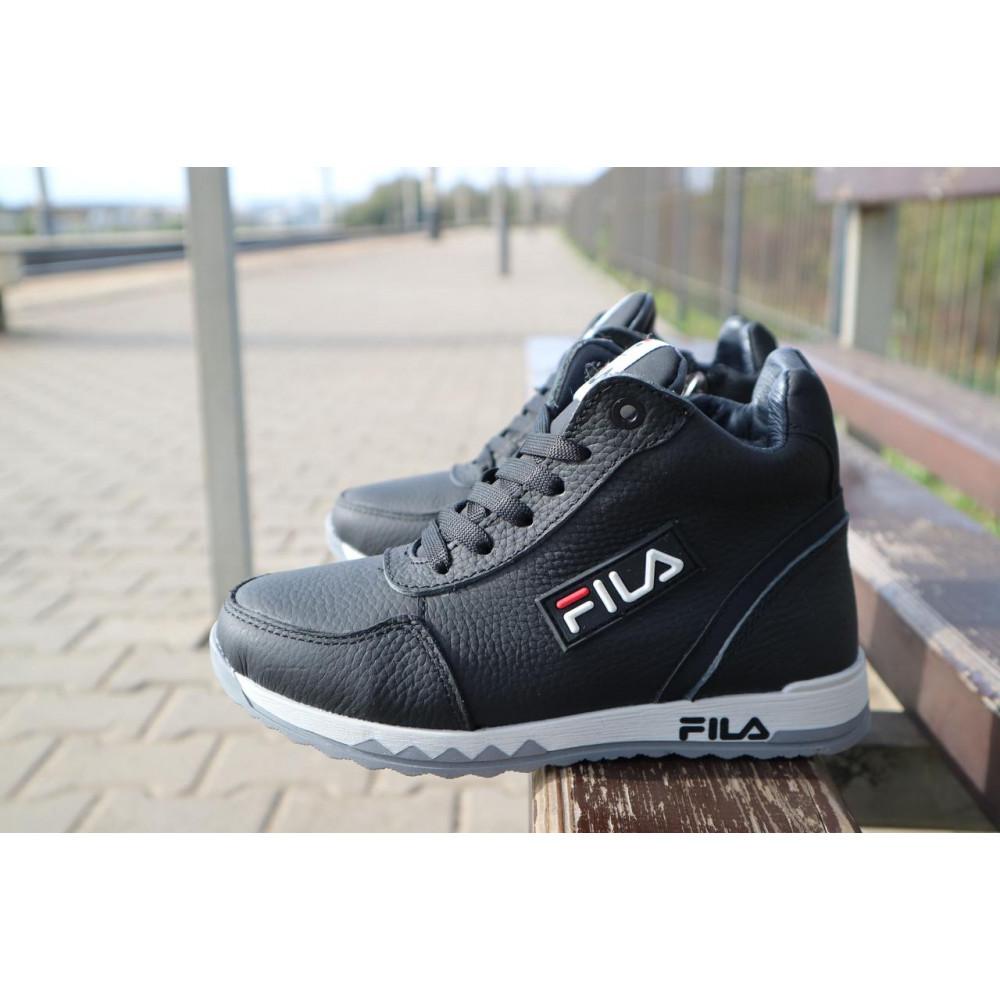 Детские ботинки зимние  - Детские ботинки кожаные зимние черные CrosSav z 48 6