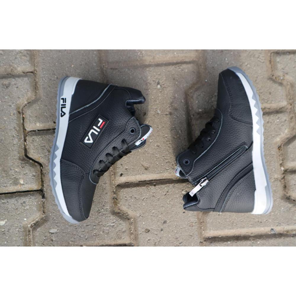 Детские ботинки зимние  - Детские ботинки кожаные зимние черные CrosSav z 48 2