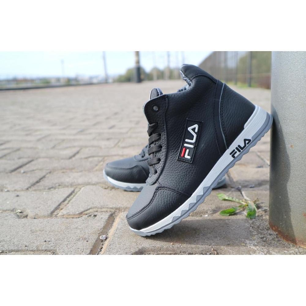 Детские ботинки зимние  - Детские ботинки кожаные зимние черные CrosSav z 48 1