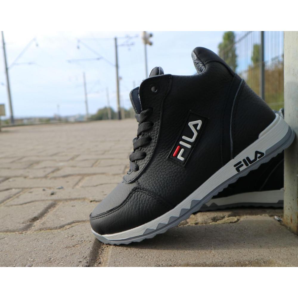 Детские ботинки зимние  - Детские ботинки кожаные зимние черные CrosSav z 48