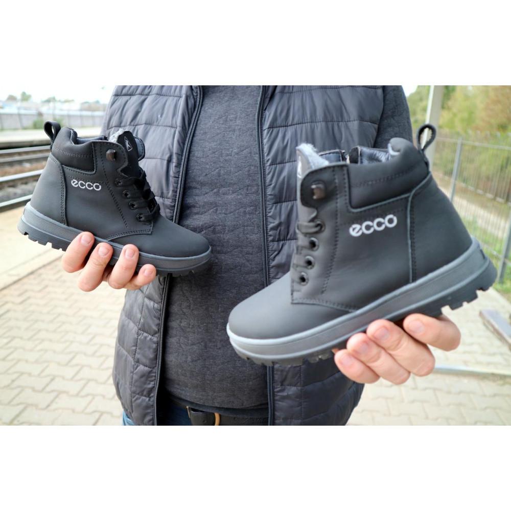 Детские ботинки зимние  - Детские ботинки кожаные зимние черные-матовые CrosSav z 37 5