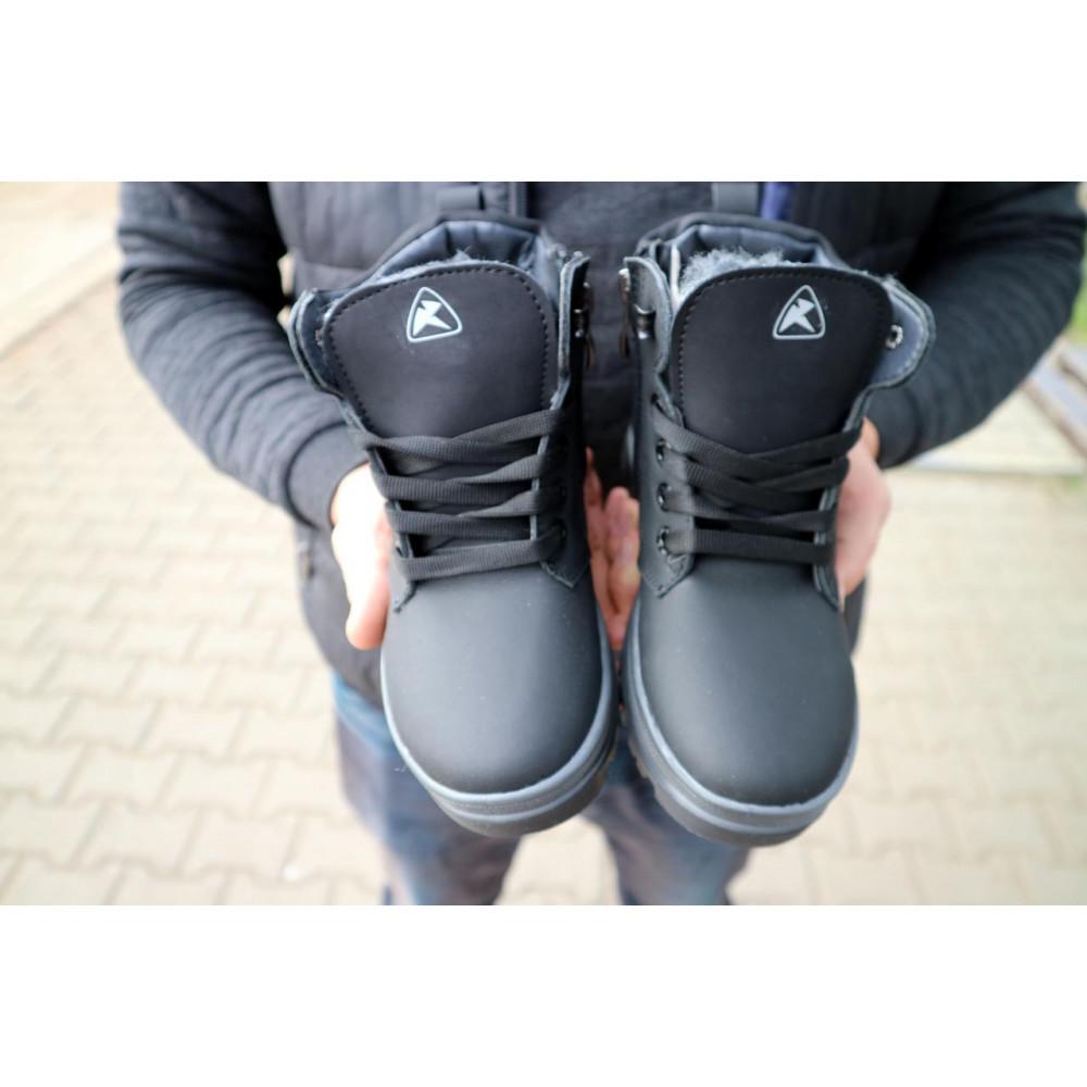Детские ботинки зимние  - Детские ботинки кожаные зимние черные-матовые CrosSav z 37 3