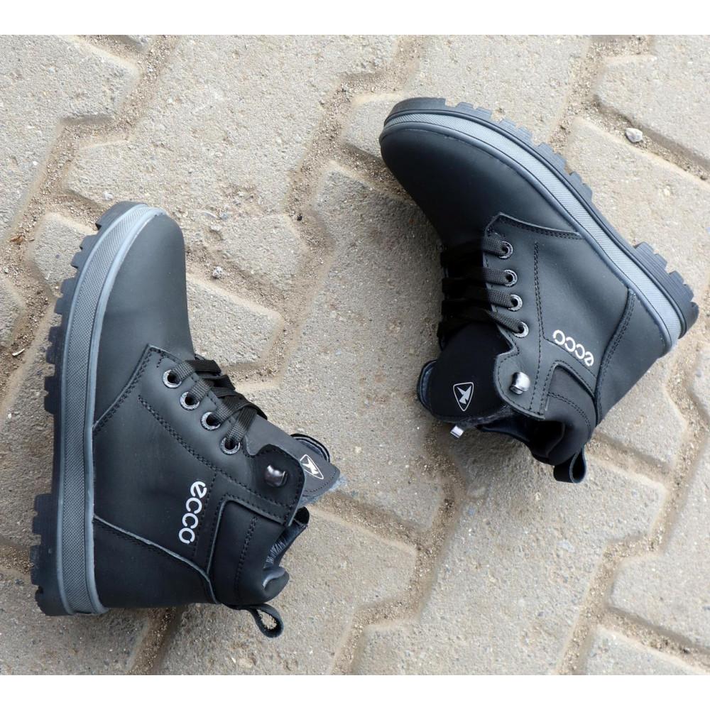 Детские ботинки зимние  - Детские ботинки кожаные зимние черные-матовые CrosSav z 37 1