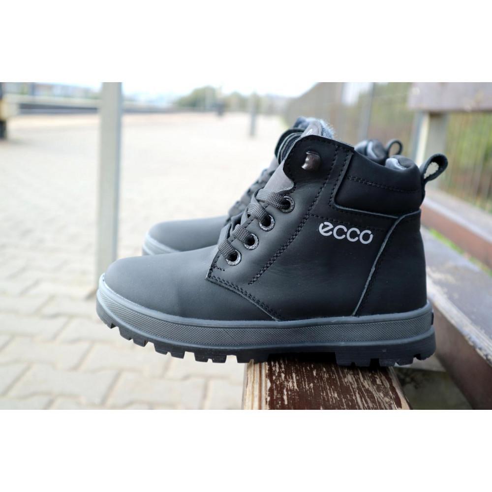 Детские ботинки зимние  - Детские ботинки кожаные зимние черные-матовые CrosSav z 37 4