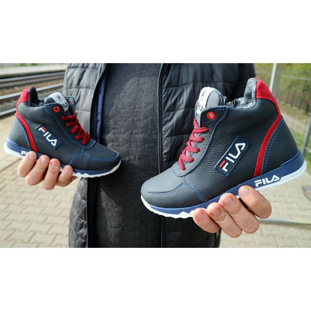 Детские ботинки зимние  - Детские ботинки кожаные зимние синие-красные CrosSav z 48 4