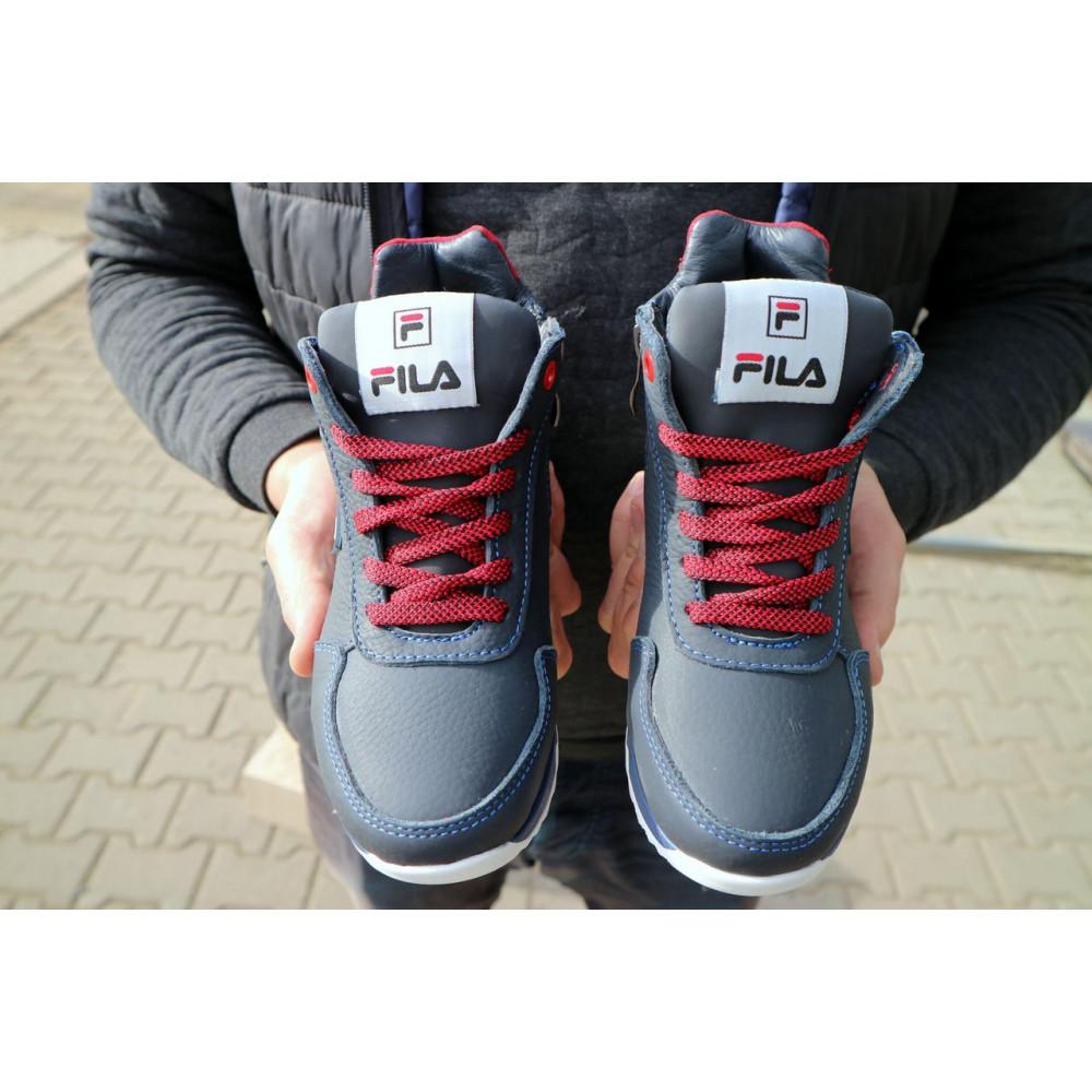 Детские ботинки зимние  - Детские ботинки кожаные зимние синие-красные CrosSav z 48 3