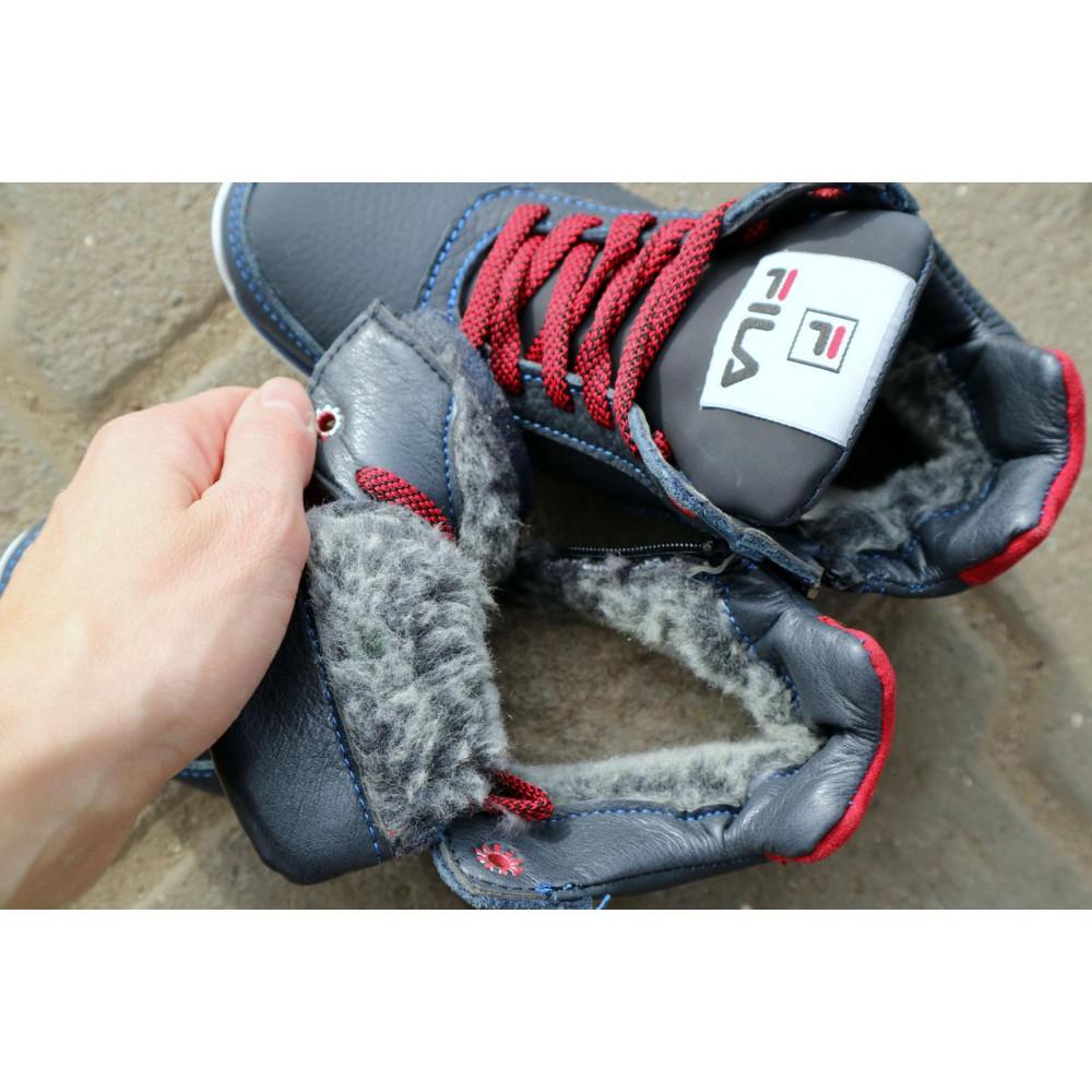 Детские ботинки зимние  - Детские ботинки кожаные зимние синие-красные CrosSav z 48 2