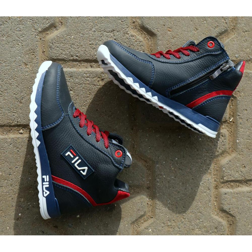 Детские ботинки зимние  - Детские ботинки кожаные зимние синие-красные CrosSav z 48 1
