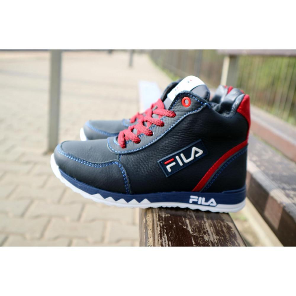 Детские ботинки зимние  - Детские ботинки кожаные зимние синие-красные CrosSav z 48 5