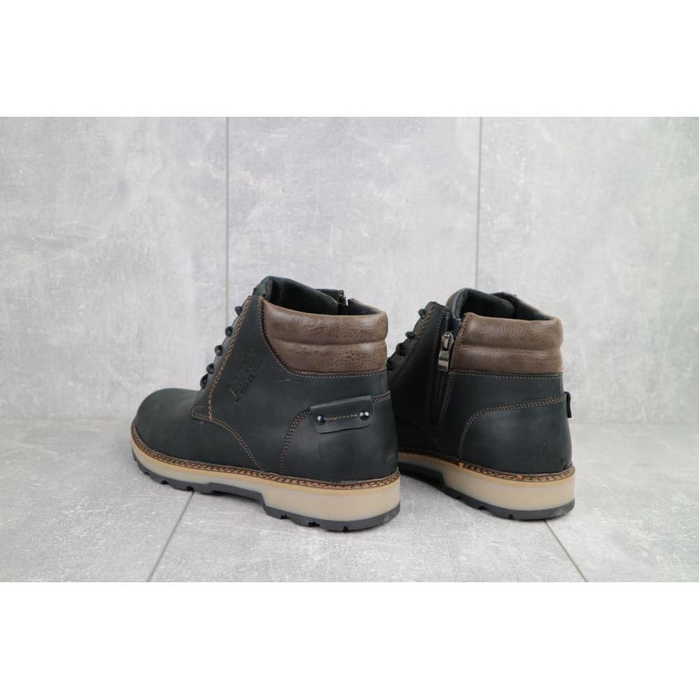 Мужские ботинки зимние - Мужские ботинки кожаные зимние черные-матовые Yuves 775 4