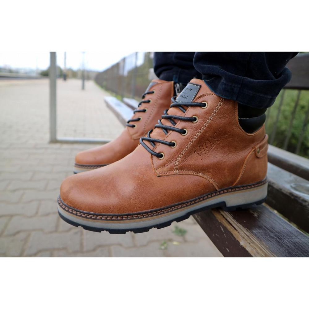 Мужские ботинки зимние - Мужские ботинки кожаные зимние рыжие Yuves 775 7