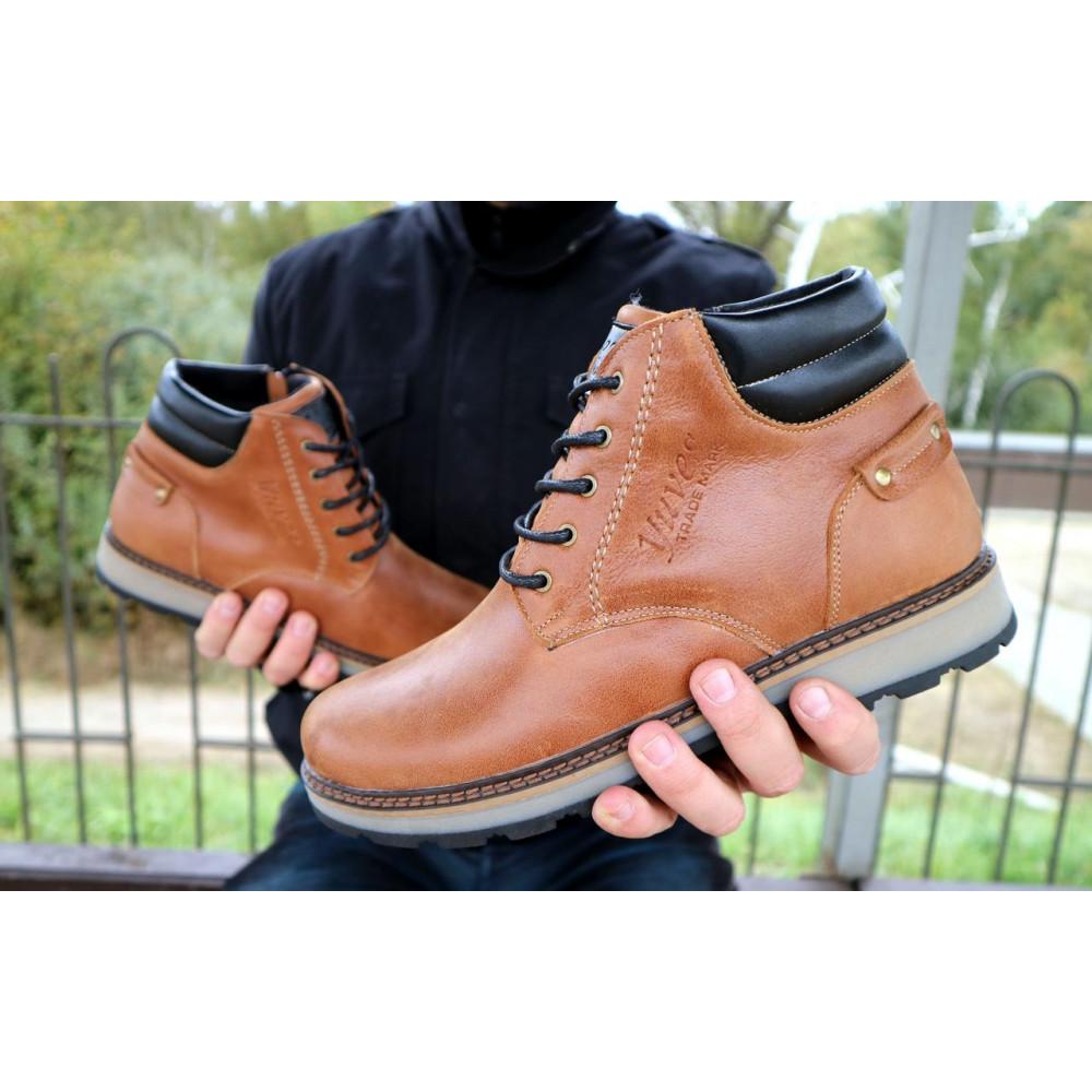 Мужские ботинки зимние - Мужские ботинки кожаные зимние рыжие Yuves 775 6
