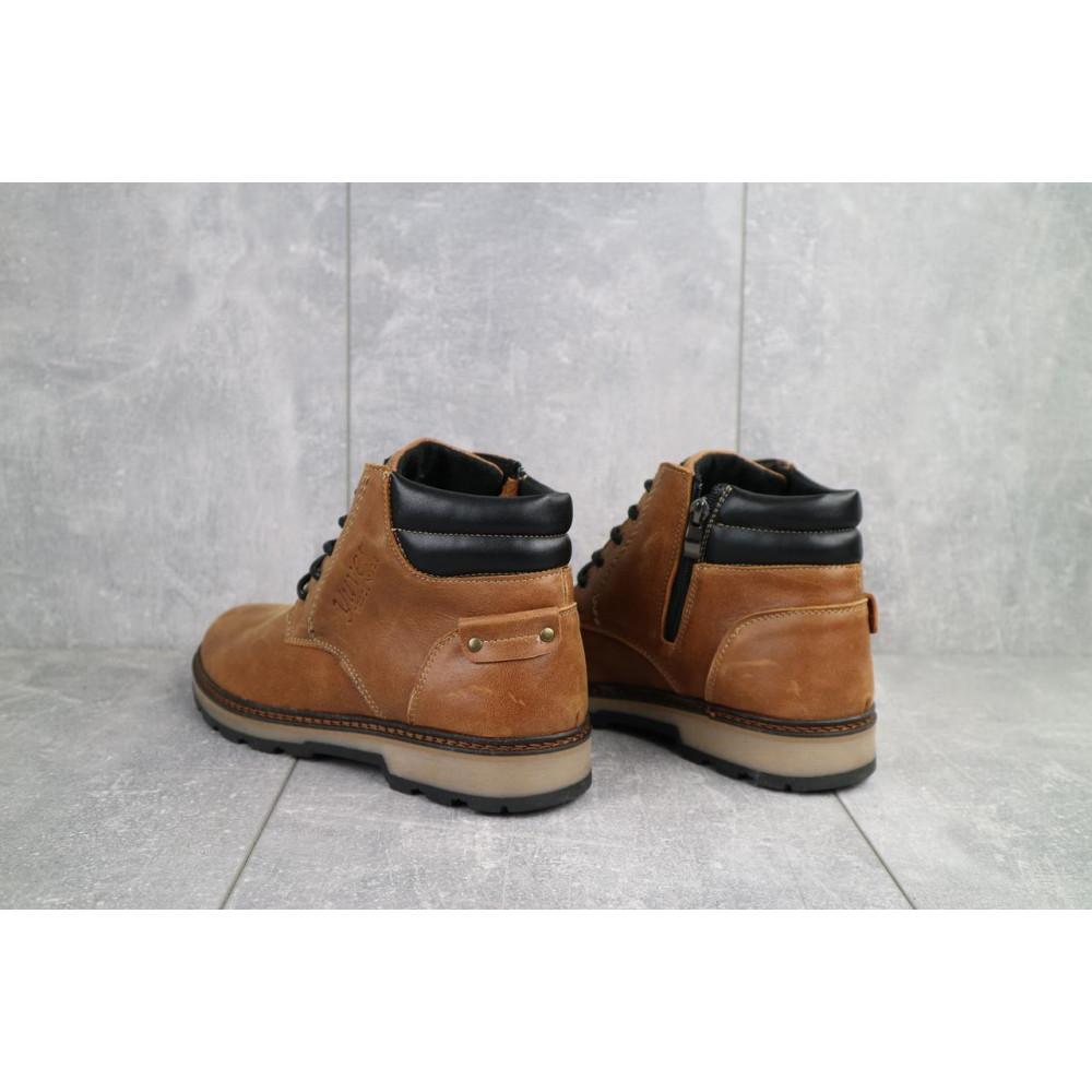 Мужские ботинки зимние - Мужские ботинки кожаные зимние рыжие Yuves 775 4