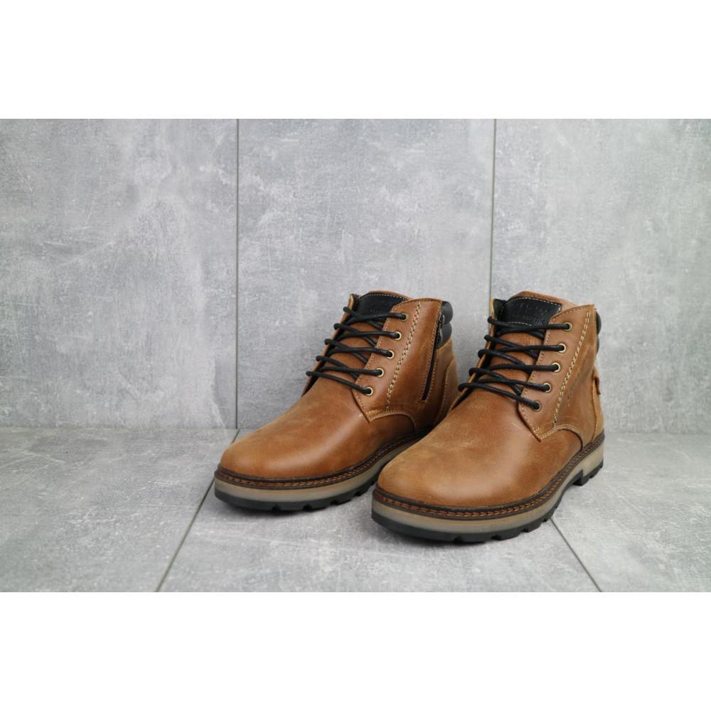 Мужские ботинки зимние - Мужские ботинки кожаные зимние рыжие Yuves 775 3