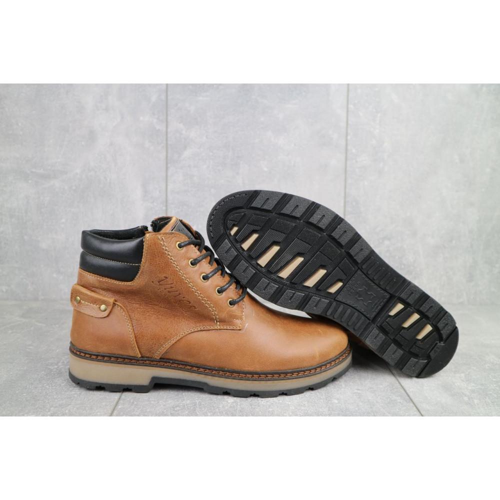 Мужские ботинки зимние - Мужские ботинки кожаные зимние рыжие Yuves 775 2